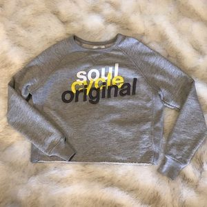 Soul Cycle Crop Embroidered Sweatshirt